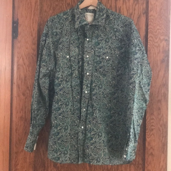 Roper Other - Men' Roper paisley western shirt.